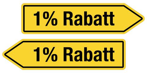 2 Pfeilschilder gelb 1 % RABATT