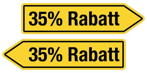 2 Pfeilschilder gelb 35 % RABATT