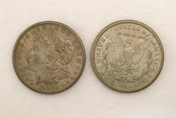 Silver Dollar; Morgan Dollar 1921