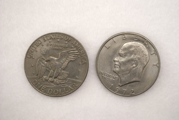 Silver Dollar; Eisenhower Dollar