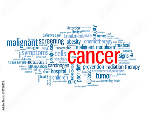 """CANCER"" Tag Cloud (disease health medical tumor patient cure)"