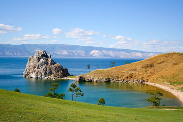 mountain on the Baikal lake