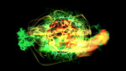 Seamlessly loop-able pulsing atom with alpha