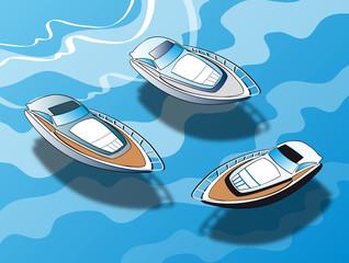 Yacht sull'acqua