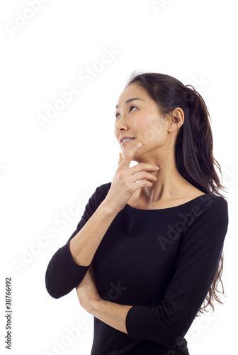 Thoughtful Asian Woman