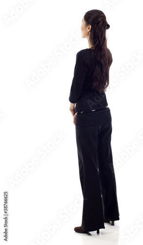 Back View Business Woman
