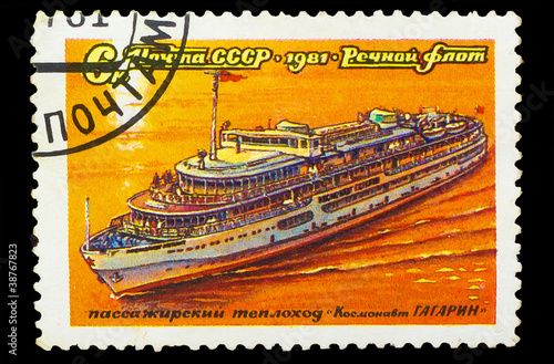 USSR - CIRCA 1981: A stamp printed in USSR, shows passenger moto
