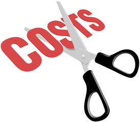 Scissors cut business expense costs
