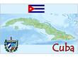 cuba america map flag emblem
