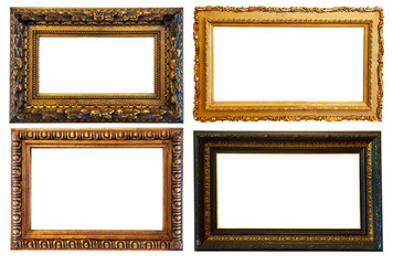 horizontal  gold picture frames