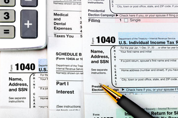 U.S. Individual Income Tax Return forms.
