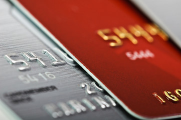 Picture of a credit cards as a background.