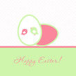 Easter card with two birds and two eggs