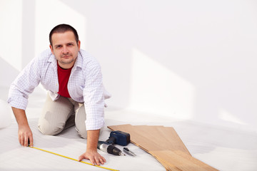 Installing laminate flooring - the isolation layer