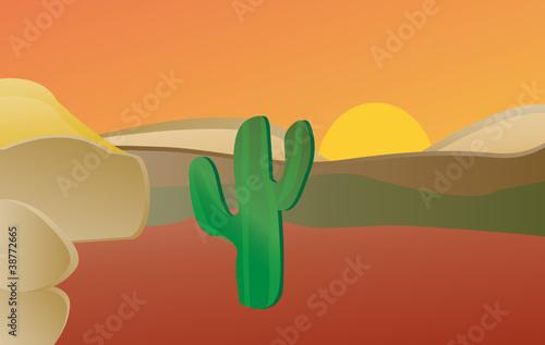 Staande foto Wild West Desert: A desert landscape.
