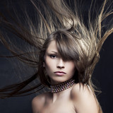 beautiful woman with long straight hair developing - 38773033