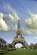 Sky Colors over Eiffel Tower in Paris