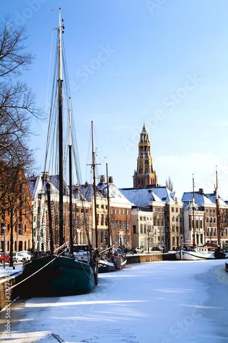 Groningen in snow