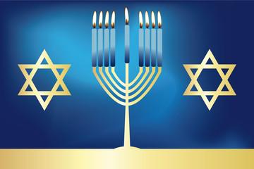 Hanukkah - festive jewish card