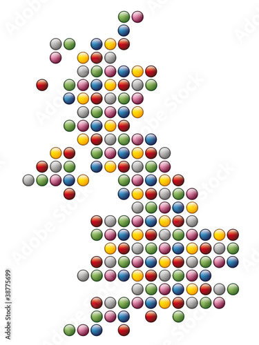 abstract map of United Kingdom