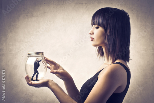 Possessive woman