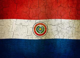 Grunge Paraguay flag