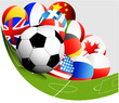 Abstract football background with flags