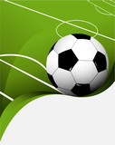 Abstract football background with playing field