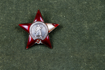 The soviet Red Star order