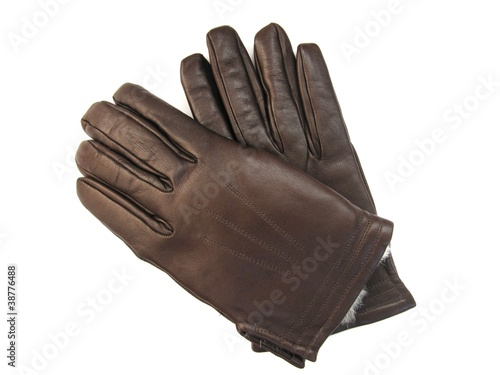 Leather gloves, guantes de cuero.