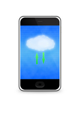 Cloud computing concept on smartphone