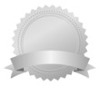 Blank award silver emblem, vector illustration