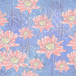 Water Lily Flowers. Seamless background
