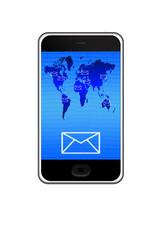 E-mail on smartphone