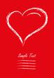 Grußkarte Herz Valentinstag Liebe