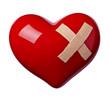 heart shape love bandage hurt