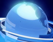 Earth Globe Animation (3D Blue Glass World)
