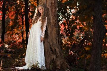 fairy bride in the woods