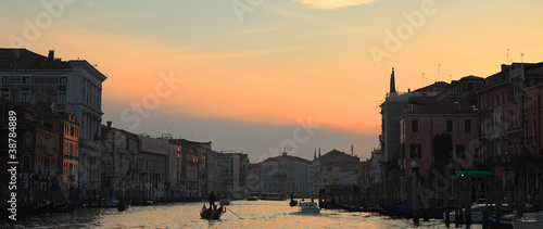 Panoramic view on Grand Canal at sunset. © Rostislav Glinsky