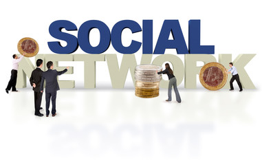 3D financial social network