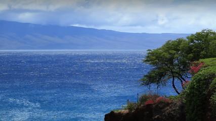 Lanai island from Maui, Hawaii