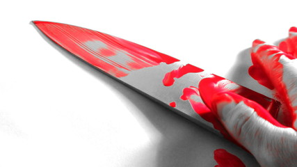 Bloody Knife and Hand
