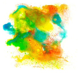 spot stain blot color watercolor texture isolated on a white bac