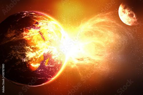 eksplodujące planety Terre