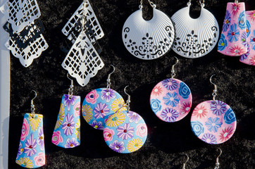 Colorful form decorative earring jewelry sell fair