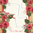 Beautiful  greeting card with roses