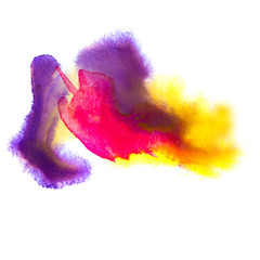 purple red yellow macro spot blotch texture isolated on a white