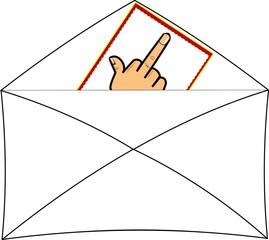 flipping the bird note in envelope set