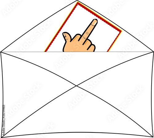 flipping the bird note in envelope set