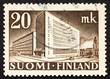 Postage stamp Finland 1945 Post Office, Helsinki